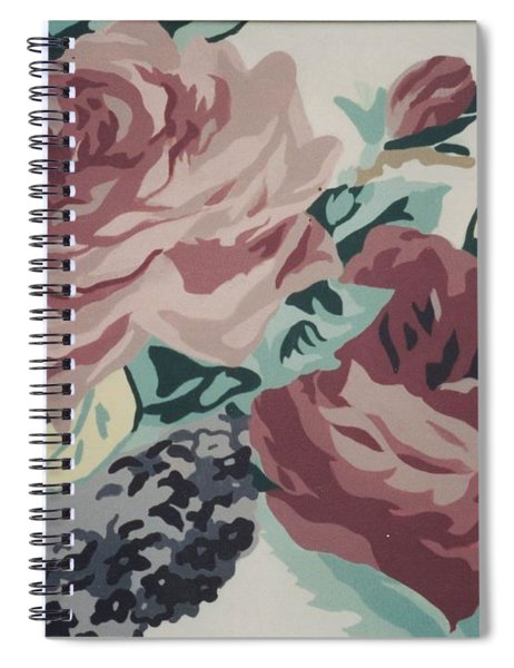 Red And Pink Flowers Spiral Notebook