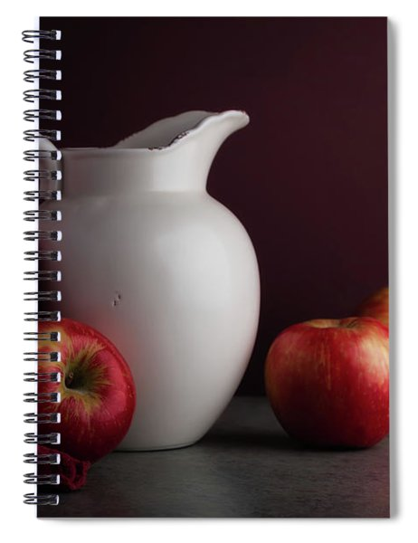 Red And White Apple Still Life Spiral Notebook