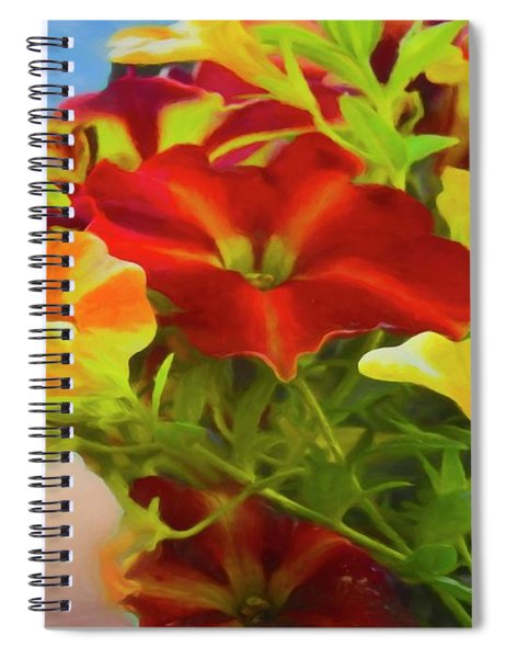 Red And Yellow Flowers Spiral Notebook