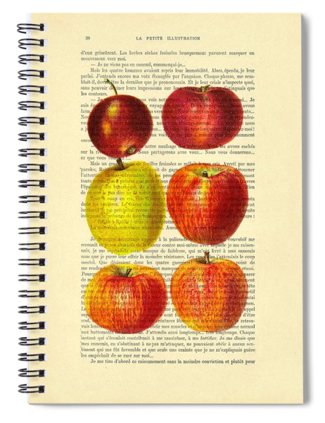 Red Apples Still Life Vintage Illustration Spiral Notebook