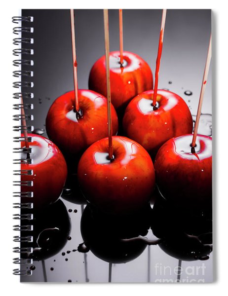 Red Apples With Caramel  Spiral Notebook