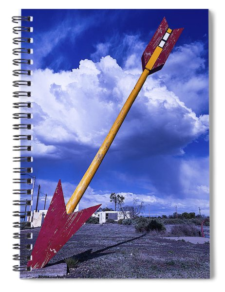 Red Arrow With Clouds Spiral Notebook