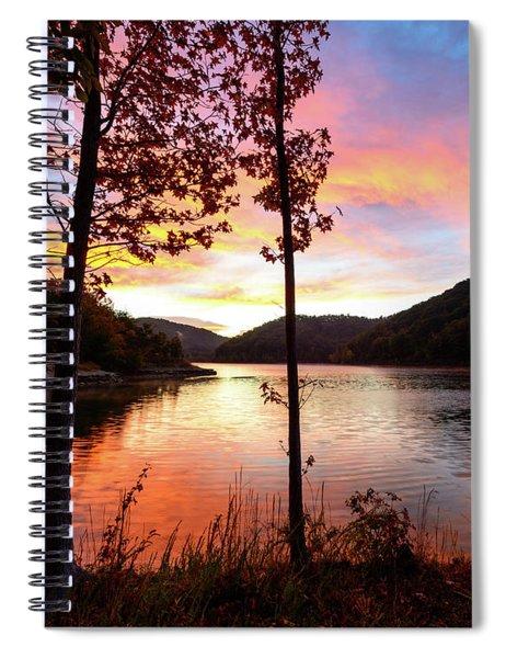 Red Autumn Spiral Notebook