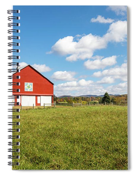 Red Barn In Green Bank Spiral Notebook