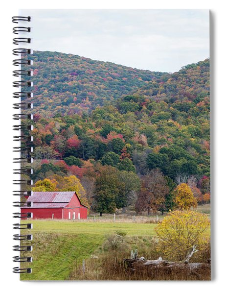 Red Barn In The Fall Spiral Notebook