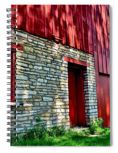 Red Barn In The Shade Spiral Notebook