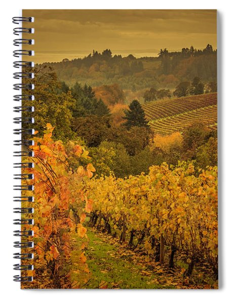 Red Barn In The Vines Spiral Notebook