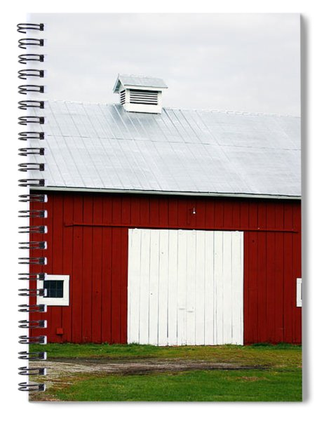 Red Barn- Photography By Linda Woods Spiral Notebook