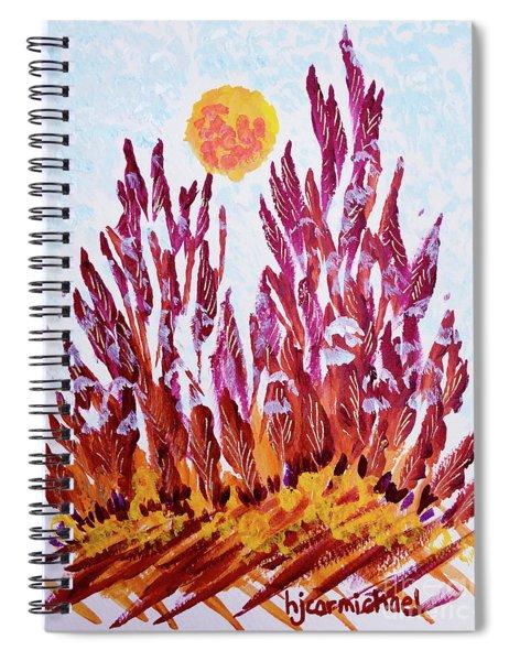 Red Beauties In The Garden Spiral Notebook