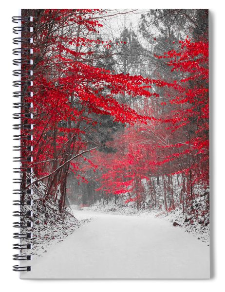 Red Blossoms Horizontal Spiral Notebook