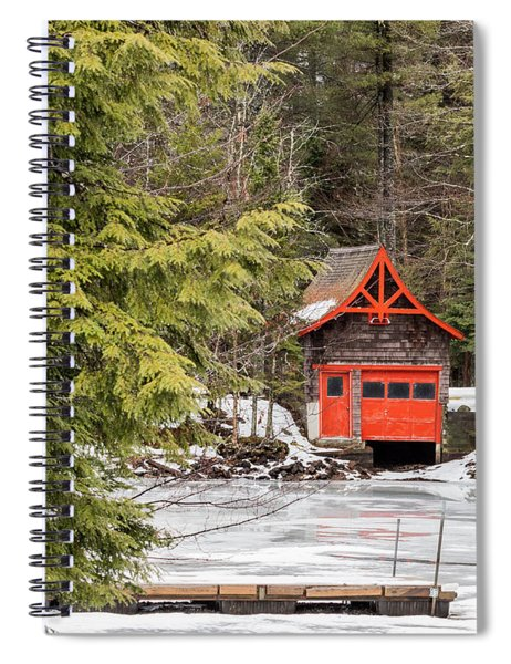Red Boathouse Spiral Notebook