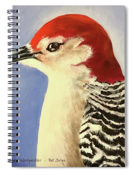 Red Breasted Woodpecker Two Spiral Notebook