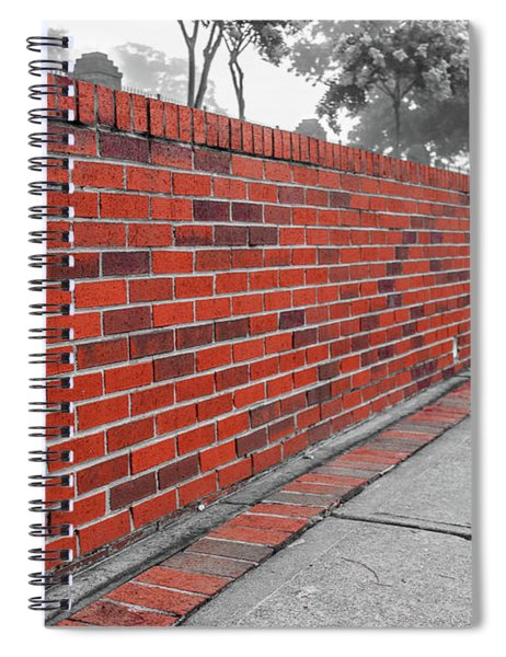 Spiral Notebook featuring the photograph Red Brick by Doug Camara
