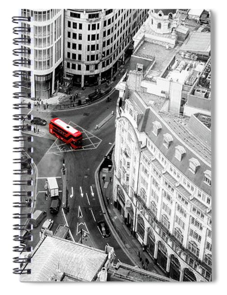 Red Bus Of London Spiral Notebook