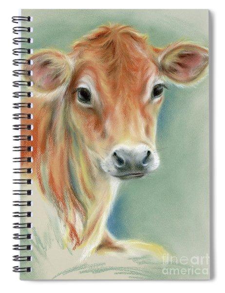 Red Calf Portrait Spiral Notebook