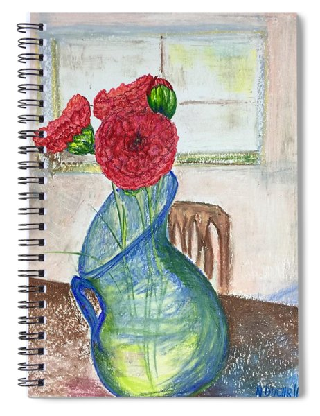 Red Carnations Spiral Notebook