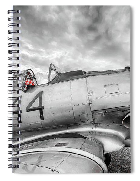 Red Checkers Spiral Notebook