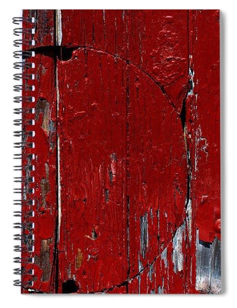 Red Circle Spiral Notebook