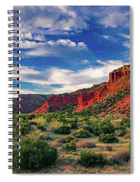 Red Cliffs Of Caprock Canyon 2 Spiral Notebook