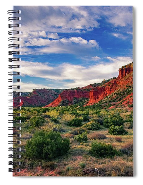 Red Cliffs Of Caprock Canyon Spiral Notebook
