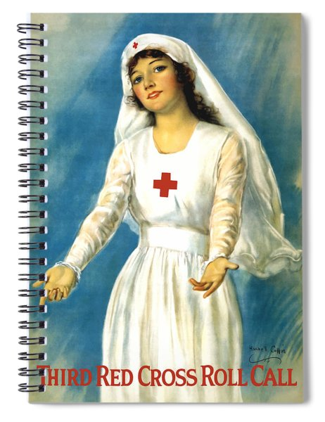 Red Cross Nurse - Ww1 Spiral Notebook