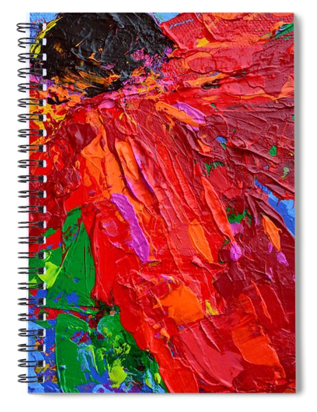 Red Daisy Spiral Notebook