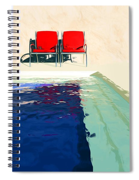 Red Deck Chairs Spiral Notebook