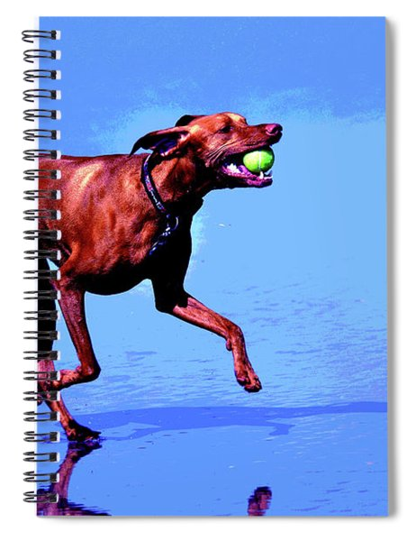 Red Dog Running Spiral Notebook