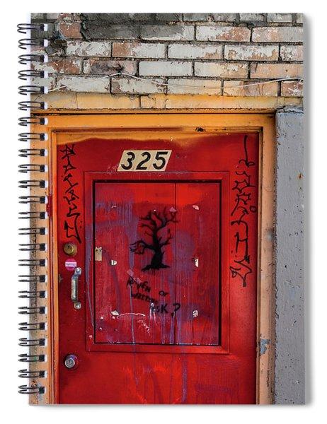 Red Door 325  Spiral Notebook