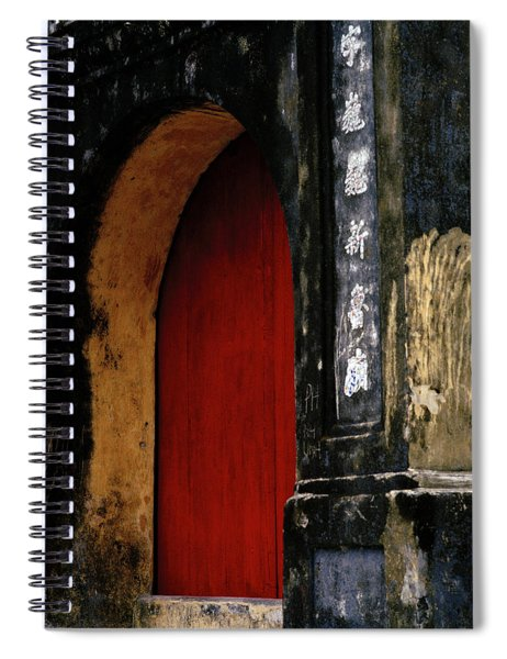 Red Doorway Spiral Notebook