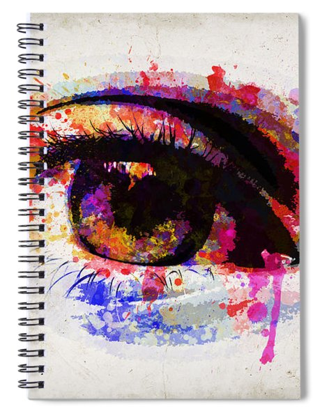 Red Eye Watercolor Spiral Notebook