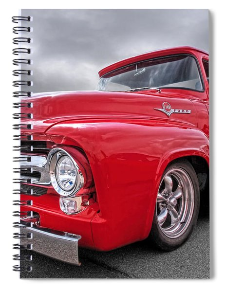 Red F-100 Spiral Notebook