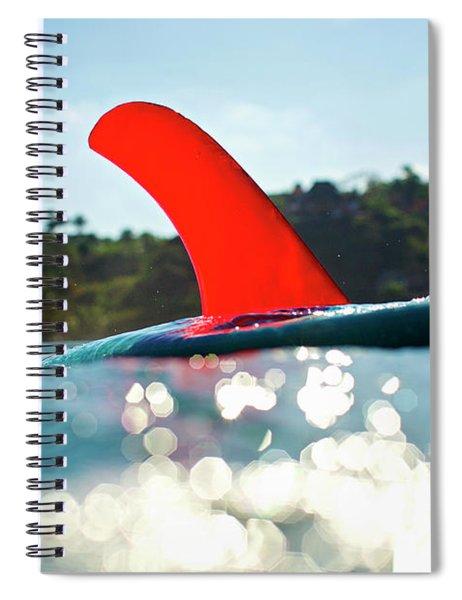 Red Fin Spiral Notebook