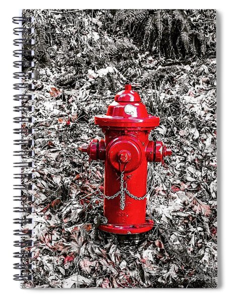 Red Fire Hydrant Spiral Notebook