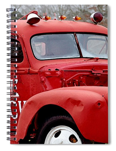 Red Fire Truck Spiral Notebook