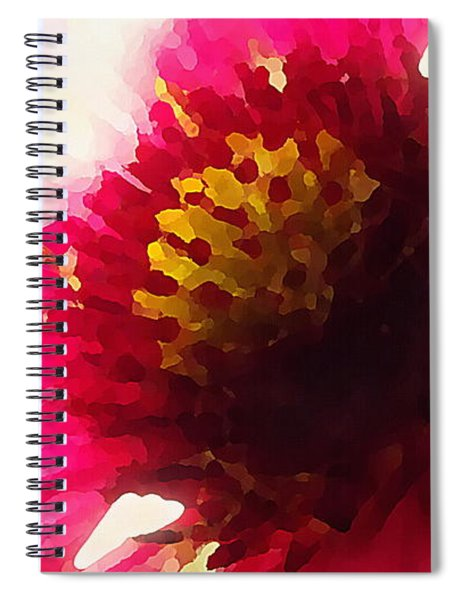 Red Flower Abstract Spiral Notebook