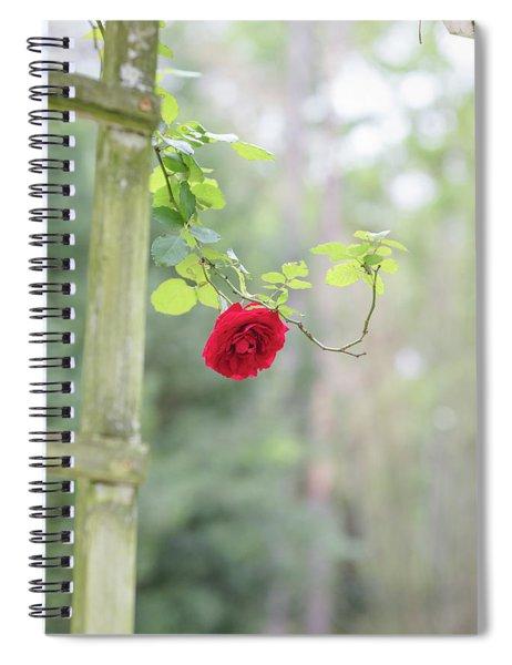 Red Flower Garden Spiral Notebook