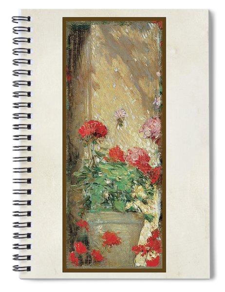 Red Geranium Pots Spiral Notebook