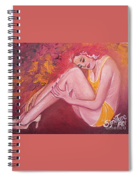 Blaa Kattproduksjoner                   Red Head In Yellow Bathingsuit Spiral Notebook