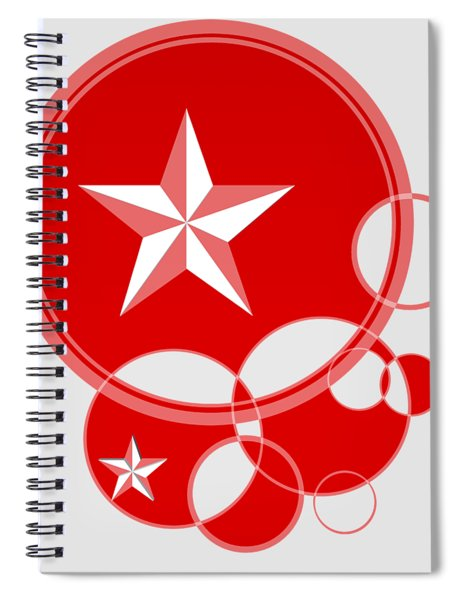 Red Holiday Spiral Notebook