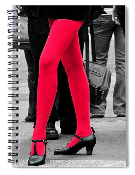 Rocket Red Spiral Notebook