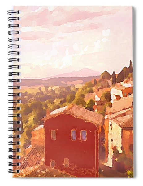 Red House On A Hill Spiral Notebook