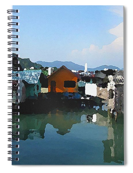 Red House On The Water Spiral Notebook