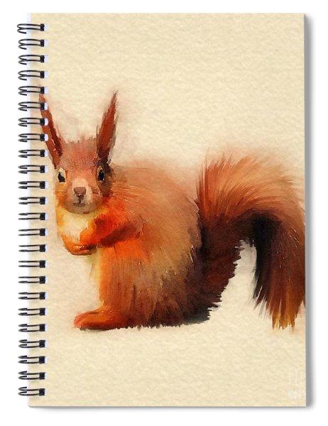 Red Squirrel Spiral Notebook