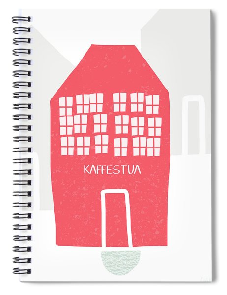Red Kaffestua- Art By Linda Woods Spiral Notebook