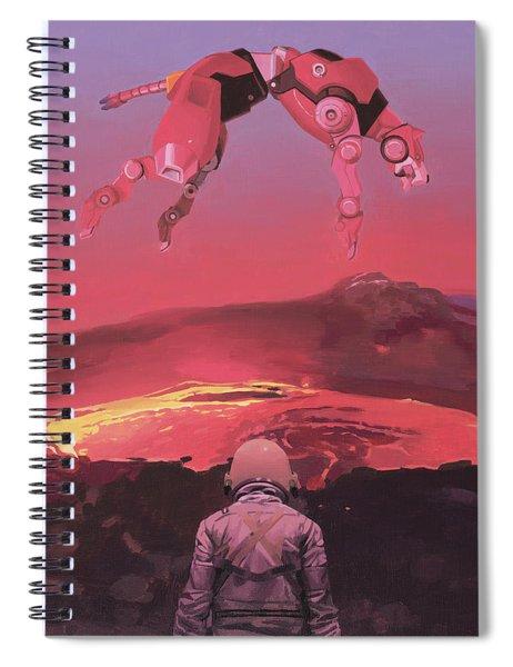 Red Lion Spiral Notebook by Scott Listfield