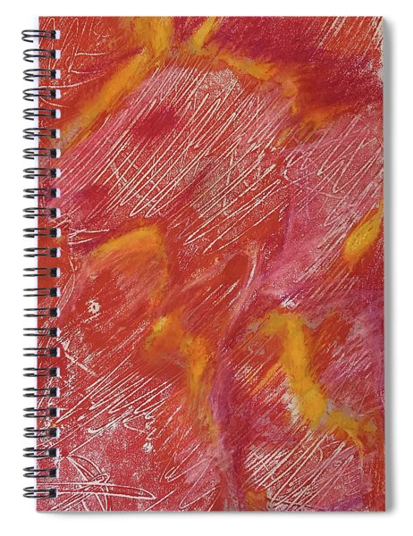 Red Monoprint One Spiral Notebook