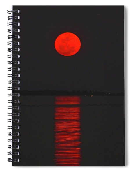 Red Moon Rising  Spiral Notebook