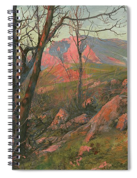 Red Morning On The Chatir-dag In May  Spiral Notebook