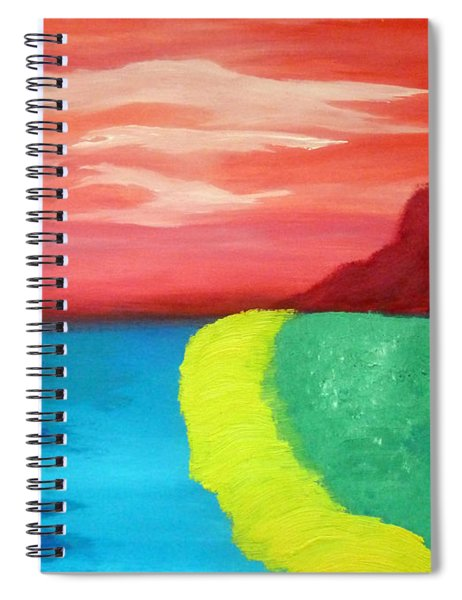 Red Mountain By The Sea Spiral Notebook